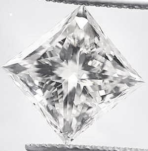 Picture of 3.65 Princess natural diamond G VS2, very-good cut