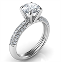 Picture of Contemporary engagement ring with side diamonds-Donna