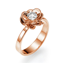 Picture of Rose gold Viola flower engagement ring