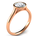 Picture of Rose Gold Delicate Low Profile bezel engagement ring-Anna