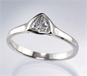 Picture of Triangle cheap Engagement ring with 0.24 Carat H VS1 natural diamond
