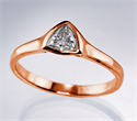 Picture of  Rose Gold Triangle cheap Engagement ring with 0.24 Carat H VS1 natural diamond