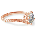 Picture of  Rose Gold Vintage style wheet motif solitaire engagement ring