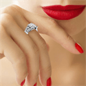 Picture of Victorian style leaves engagement ring for all shapes