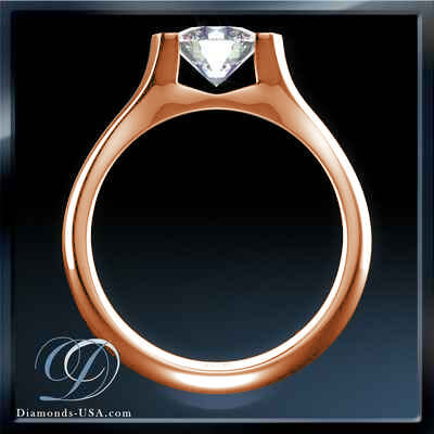 Low Profile Tension solitaire Engagement ring