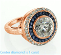 Picture of  Rose gold Victorian Replica Vintage Engagement ring