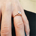 Picture of Rose Gold Vintage engagement ring replica hand engraved