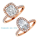Picture of  Rose Gold Oval or Cushion Halo engagement ring