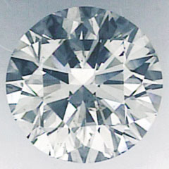 Picture of 1.06 Carats, Round Diamond with Ideal Cut,H SI1 and Certified by IGL