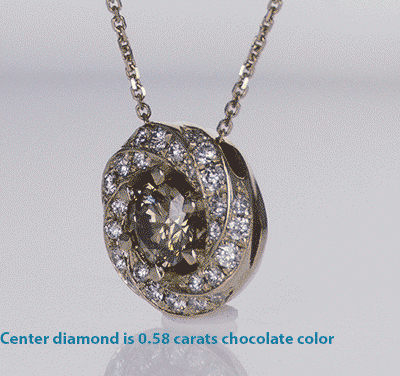 The Spinner pendant for round diamonds