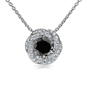 Picture of The Spinner pendant with 1 carat Black center diamond
