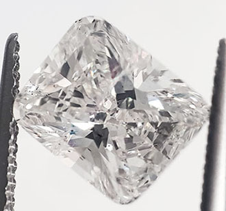 Picture of 1.61 carat Cushion natural diamond F SI1,Very Good Cut