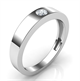 Picture of 5 mm men wedding band with 0.20 carat diamond G SI very good cut