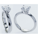 Picture of 3mm Knife Edge solid Solitaire Engagement ring