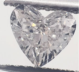 Picture of 0.58 Carats, Heart Diamond with Very Good Cut, E Color, VS2 Clarity and Certified By EGS/EGL