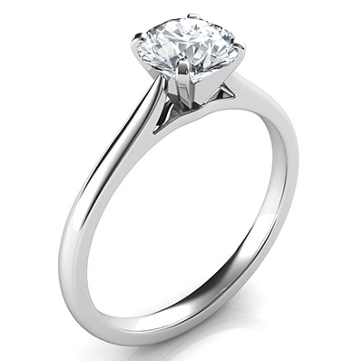 Delicate solitaire engagement ring-Patricia