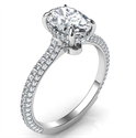 Picture of Chelsea,All shapes diamond encrusted secret halo , 0.54 caratsEngagement ring
