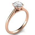 Picture of Delicate Rose Gold solitaire engagement ring-Patricia