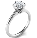 Picture of Delicate 6 prongs Novo solitaire engagement ring, Barbara