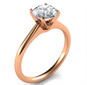 Picture of Rose Gold Delicate Novo solitaire engagement ring, Susan