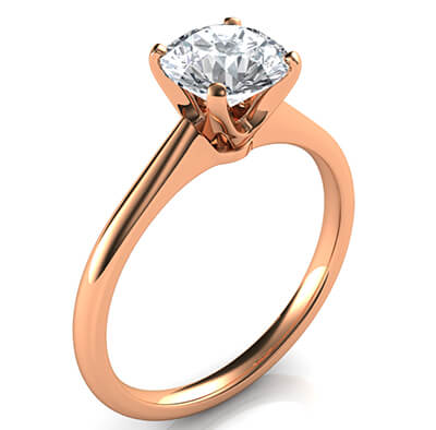 Rose Gold Delicate Novo solitaire engagement ring, Susan