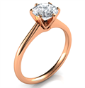 Picture of Rose Gold delicate 6 prongs Novo solitaire engagement ring,Lisa