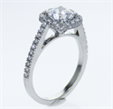 Picture of Halo engagement ring,