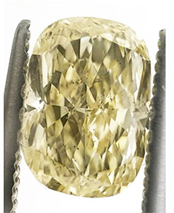 Picture of 0.91 Carats, Cushion Diamond with Very Good Cut, Fancy Yellow Color, SI1 Clarity and Certified By EGL