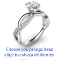 Picture of The Slalom engagement ring