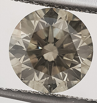Picture of 1.57 Carats, Round Diamond,Fancy natural Champagne color,VS1 Ideal-Cut and Certified by CGL.