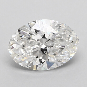 Picture of 0.70 Carats, Oval Diamond with Very Good Cut, G Color, SI2 Clarity and Certified By GIA