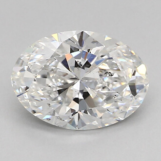 Picture of 0.73 Carats, Oval Diamond with Very Good Cut, F Color, SI2 Clarity and Certified By GIA