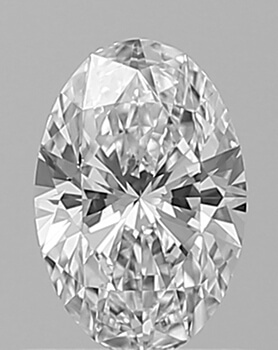 Picture of 0.56 Carats, Oval Diamond with Very Good Cut, E Color, VS1 Clarity and Certified By GIA