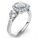 Picture of Rich engagement ring,Price includes two 0.50 side diamonds