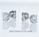 Picture of Oval  diamonds stud earrings