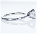 Picture of Solid tube engagement ring with 6 prongs Classic style head