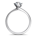 Picture of Solitaire engagement ring with a twist