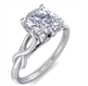Picture of Leaf motif infinity Solitaire engagement ring, Dorothy