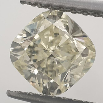 Picture of 1.01 Carats, Cushion Diamond with Ideal Cut, N color VVS2 Clarity Enhanced and Certified By CGL