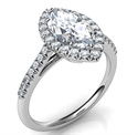 Picture of Delicate halo for Marquise,1.5 mm band