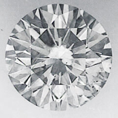 Picture of 0.70 Carats, Round  Diamond with Ideal Cut, D SI1, Certified by EGL
