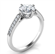 Picture of Low Profile  engagement ring with side diamonds-Sandra