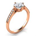 Picture of Rose Gold Delicate band engagement ring-Sandra