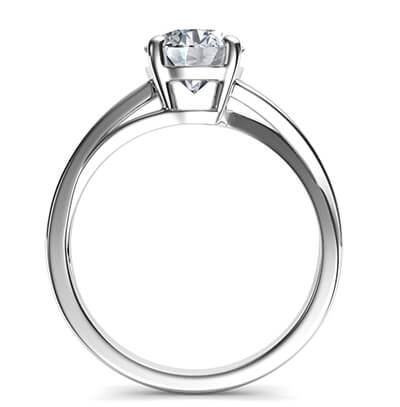 Solitaire engagement ring with a twist, Margaret