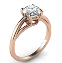 Picture of Solitaire engagement ring with a twist, Margaret, in Rose Gold