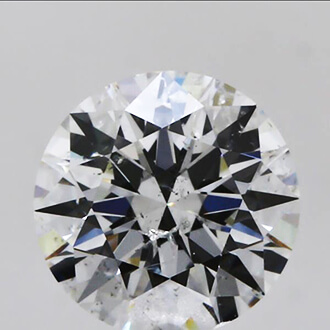 Picture of  0.70 Carats, Round  Diamond with Ideal Cut ,F SI2, Certified by GIA