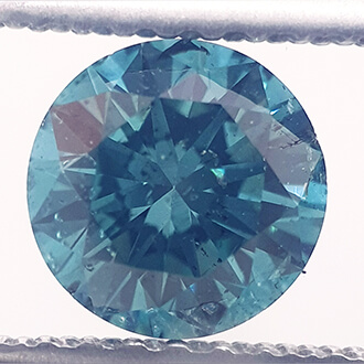 Picture of 0.8 Carats, Round natural diamond, ocean blue, SI1