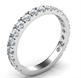 Picture of Open Pave 3/4 way diamonds  wedding band.