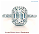 Picture of Halo engagement ring for larger diamonds