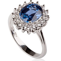 Picture of 1.00 to 1.10 carat Royal Blue Sapphire ,Princess Diana replica ring